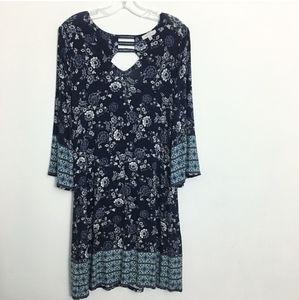 Skies Are Blue Wren knit floral dress NWOT